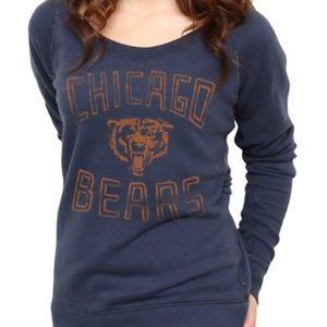 Junk Food Bears Off The Shoulder Sweatshirt Blue L